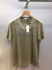 Versace Collection Size L RRP £170.00 Col Green Printed Neck Design Tshirt