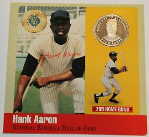 🔥Hank Aaron Rare .999 Silver Proof 500 Club Legends Of Baseball Cooperstown MT