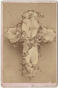 Calla Lily & Cross Victorian Floral Arrangement Pennsylvania Cabinet Card