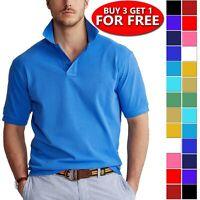 Men's Causal Cotton Polo Shirt Jersey Short Sleeve Sport Causal Golf T Shirt