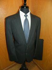 Adams Row Mens Suit  44L 36 X 30.5  Wool blend  Gray pinstripe T#84
