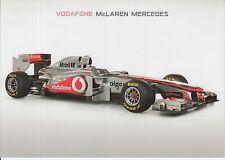 Vodafone McLaren Mercedes MP4-26 F1 PROMO CARD Formula 1.