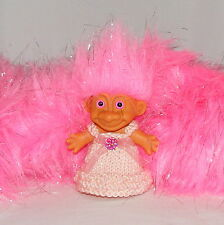 """18"""" x 18"""" Pink Sparkle Faux Fur - Approx 2.5 - 3"""" Long Pile, Very Thick"""