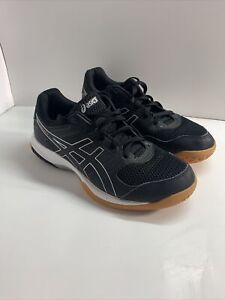 ASICS Gel Rocket Athletic Volleyball Shoes Black Silver Women's Size 8.5 B756Y