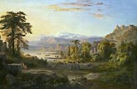A Dream of Italy by American  Robert S. Duncanson. Forests 11x17 Print