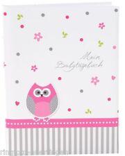 Goldbuch Babytagebuch Baby Album Fotoalbum EULE rosa  Baby Tagebuch