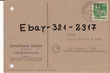 Butzbach Hessen 1948  Schuhf.Dreher  n. Oberursel F.Müller &Sohn !!