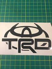 Toyota With Logo TRD Sticker