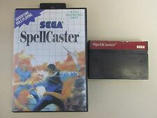vintage SEGA MASTER SYSTEM SPELLCASTER VIDEO GAME boxed  E44