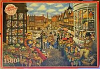 Jigsaw Puzzles-1500 Pieces-WHSmith-Victorian Market-by Gale Pitt-Rare-Vintage