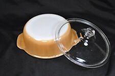Vintage Fire King Peach Lustreware Casserole Dish With Lid~ 1 1/2 Quart~1950s