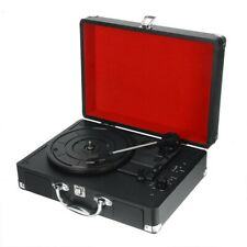 Vintage Portable USB Bluetooth Turntable Player With Speakers Phonograph Record