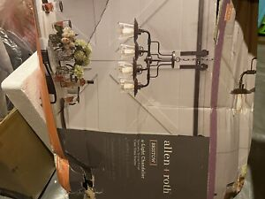 Allen + Roth Bristow 4-Light Specialty Bronze Traditional Chandelier