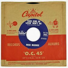 ROSE MADDOX Your Kind Of Lovin' Won't Do/There Ain't No Love 7IN NM-