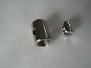 Solderless Nipple for Motorcycle & Bicycle Cables, Diameter 6 mm
