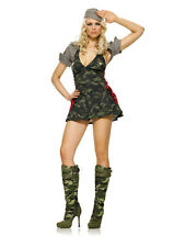 ARMY CADET soldier military womens sexy adult officer halloween costume XS 0-2