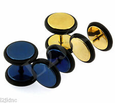 Fake Cheater Illusion Metal Ear Plugs Tunnels 16G Sugrical Post 0G 8mm Look 2x