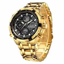 Montre de luxe tendance pour homme en acier inoxydable avec chronographe