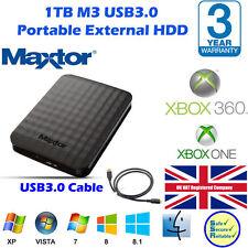 "1TB M3 Maxtor/Samsng HX-M101TCB/G Delgado Portátil USB 3.0 Disco Duro 2.5"" Ext."