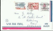 Canada 1967 Airmail Cover to GB. Votes for Women, Expo67, Pan American Games