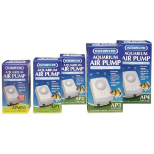 Interpet Air Pump - Aqua Mini AP1 AP2 AP3 AP4 Aquarium Fish Tank Oxygenator