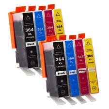 8 Druckerpatronen HP 364 XL mit Chip Photosmart 5510 5515 B109A B110A B210A 3070