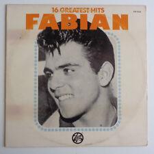 "FABIAN ""16 Greatest Hits ""Vinyl LP 12"" 1977 EX+ TOP-16-20 Tiger, Turn Me Loose"