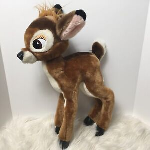 "Disney DisneyLand Walt Disney world  Bambi standing plush 18"" VTG"