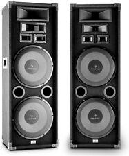 Auna PA-2200 PA Boxen Set Fullrange PA-Lautsprecher Paar (2000 Watt max)