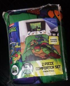 Rise of the Teenage Mutant Ninja Turtles TMNT Twin/Full Reversible Comforter New