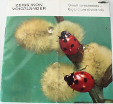ZEISS ICON VOIGTLANDER SMALL INVESTMENTS BOOKLET