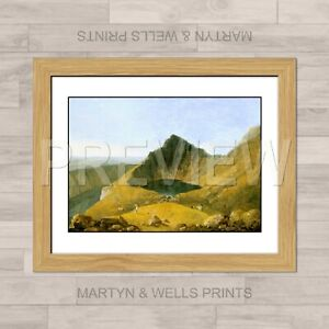 Richard Wilson framed print: Cader Idris. 400mm x 325mm. Textured canvas paper.