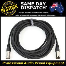 10 Metre XLR QUALITY Male-Male M-M Microphone Mic Audio Cable Lead Cord PA 10M
