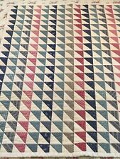 """Flying Geese Birds in the Air Modern Repro Antique Fabric Crib Quilt 31""""x 40"""""""