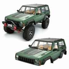 RC Scale Truck Body Shell 1/10 JEEP CHEROKEE Hard Body Pre-Painted 313mm GREEN