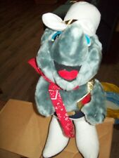 """STUFFED ARMADILLO WITH COWBOY HAT & RED BANDANA & WHITE COWBOY BOOTS 20"""" HIGH"""