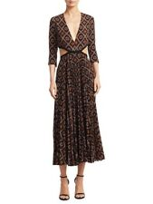 A.L.C. Neiman Marcus Silk Dress NEW WITH TAGS $795 Reece Cut Out Waist Size 8