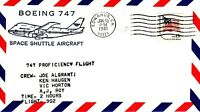 Space Shuttle B-747 Proficiency Test Flight Pilot Algranti, Edwards 13.01.81