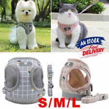 Adjustable Dog Cat Pet  Harness Soft New Leash  Vest Mesh Puppy Aus