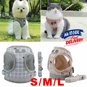 Adjustable Dog Cat Pet  Harness Soft New Leash  Vest Mesh Puppy Aus