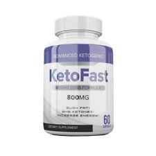 KETOFAST WEIGHT LOSS FORMULA 60 PILLS - BEST KETO FAST PILLS BHB 1 BOTTLE 800MG