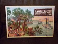 """Currier & Ives 500 Piece Puzzle, """"Low Water In The Mississippi"""""""