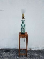 19th Century Chinese Antique Rouleau Vase, Guangxu Mark Converted to Table Lamp
