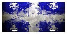 Quebec Canada Flag Custom License Plate Fleur-de-lis Emblem Paint Version