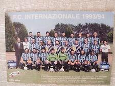 CARTOLINA UFFICIALE CALCIO SQUADRA INTER FC INTERNAZIONALE 1993/94 FIORUCCI