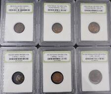 Lot of 2 Ancient Bronze Roman Byzantine Greek Coins Numismatic Bureau Case M595