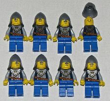 LEGO LOT OF 8 CASTLE KINGDOMS MINIFIGURES WITH CROWN PATTERN KNIGHTS FIGURES