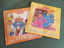 New Sesame Street Elmo's Learning Adventure (2) Cookie Monster Hardcover Books