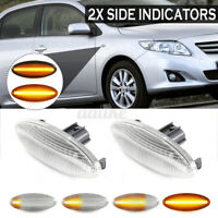 Pair LED SIDE INDICATORS REPEATERS LIGHTS For TOYOTA YARIS AURIS RAV4 Clea