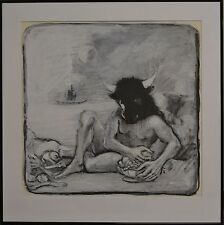 Mixed Media Greek Mythology Painting By Salvatore Lacca - Minotaur